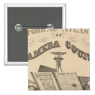 Title Page Alameda County atlas map Pinback Button