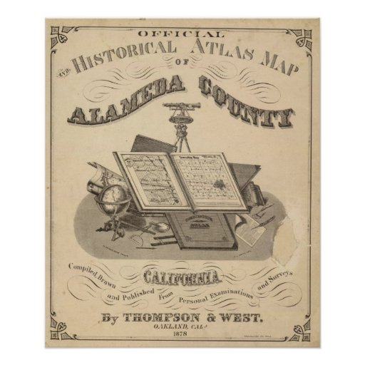 Title Page Alameda County atlas map Poster