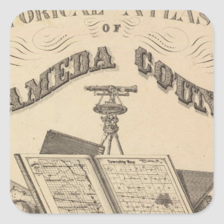 Title Page Alameda County atlas map Square Sticker