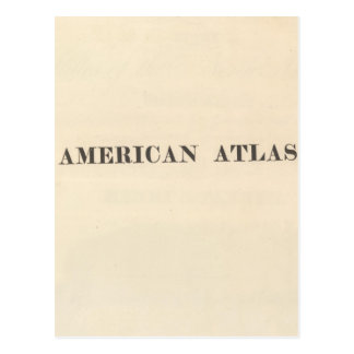 Title Page American Atlas Postcard