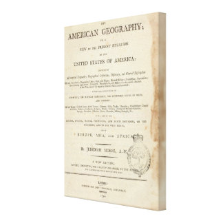 Title Page American geography Canvas Print