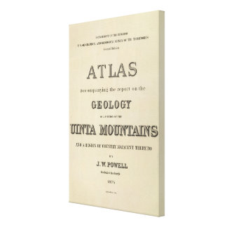 Title Page Atlas accompanying the report Canvas Print
