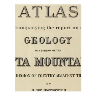 Title Page Atlas accompanying the report Post Card