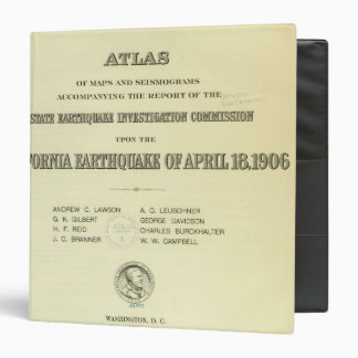 Title Page Atlas California earthquake 3 Ring Binder
