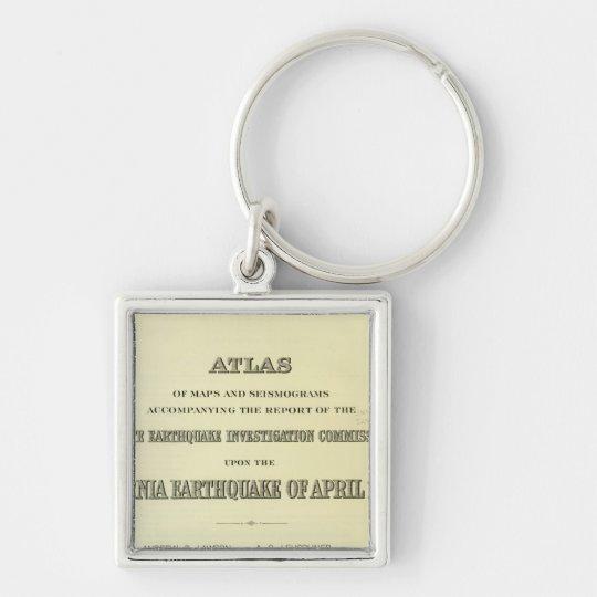 Title Page Atlas California earthquake Keychain