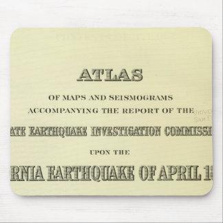 Title Page Atlas California earthquake Mouse Pad
