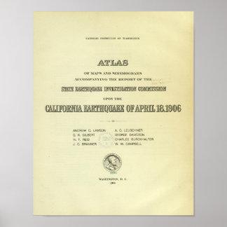 Title Page Atlas California earthquake Poster