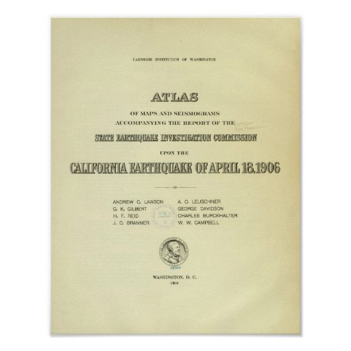 Title Page Atlas California earthquake Posters