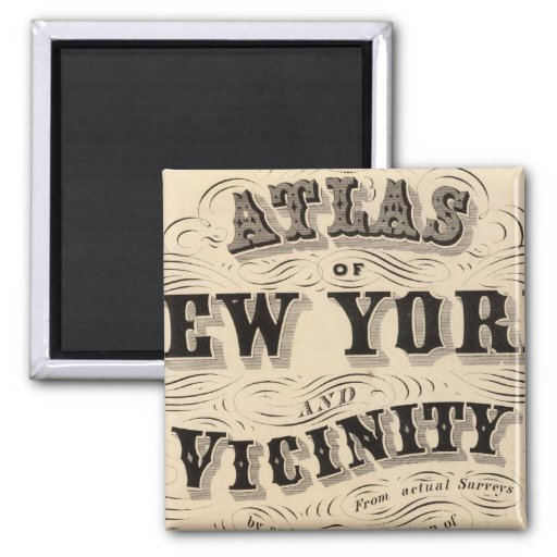Title Page Atlas of New York, vicinity Refrigerator Magnets