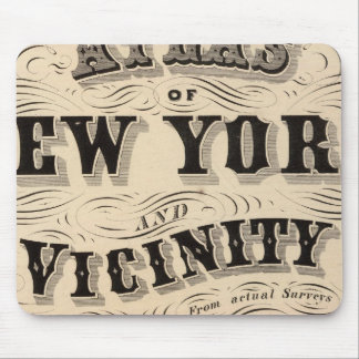Title Page Atlas of New York, vicinity Mouse Pads