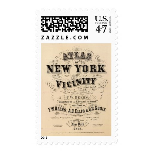 Title Page Atlas of New York, vicinity Postage