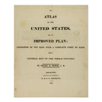 Title Page Atlas of the United States Poster