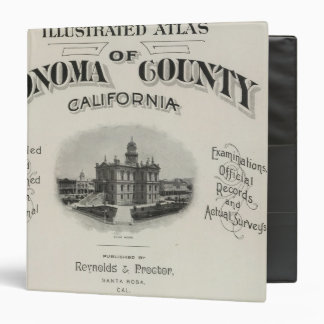 Title Page Atlas Sonoma County, California Binder