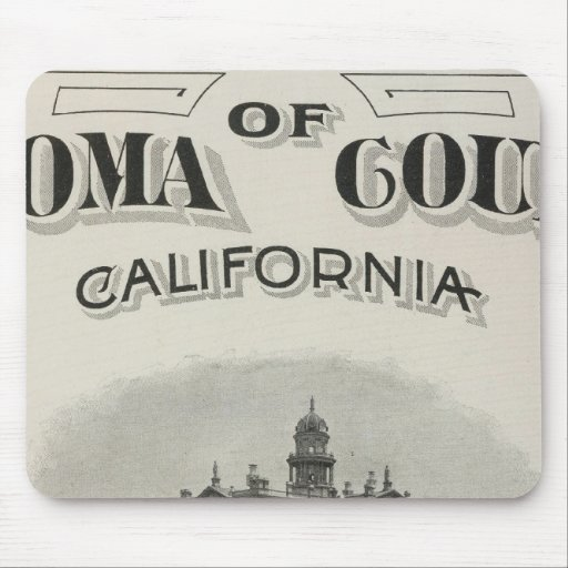 Title Page Atlas Sonoma County, California Mouse Pad