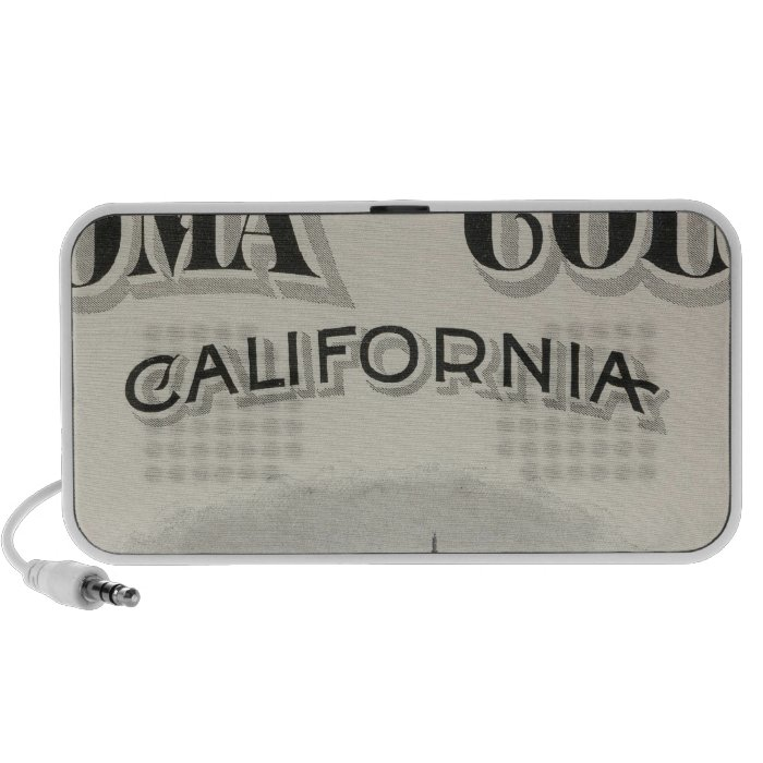 Title Page Atlas Sonoma County, California Portable Speaker