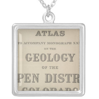 Title Page Atlas to the Geology Silver Plated Necklace