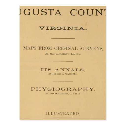 Title Page Augusta County, Virginia Postcard