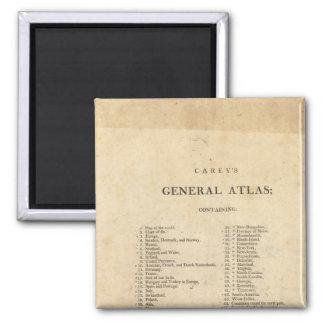 Title Page Carey's general atlas Magnet