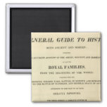Title Page Complete Genealogical, Historical 2 Inch Square Magnet