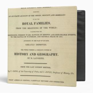 Title Page Complete Genealogical, Historical Binder