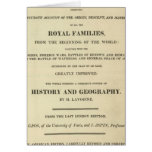 Title Page Complete Genealogical, Historical Greeting Cards