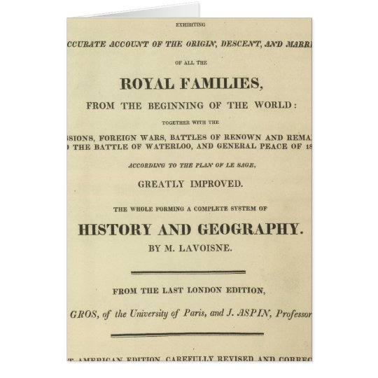 Title Page Complete Genealogical, Historical Card