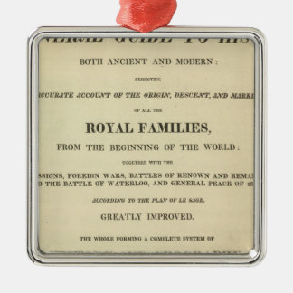 Title Page Complete Genealogical, Historical Metal Ornament