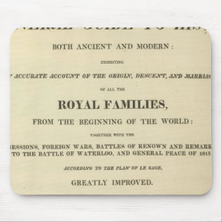 Title Page Complete Genealogical, Historical Mouse Pad