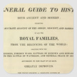 Title Page Complete Genealogical, Historical Sticker