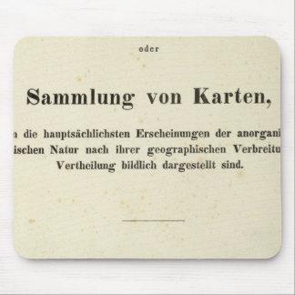 Title Page Dr Heinrich Berghaus Mouse Pad