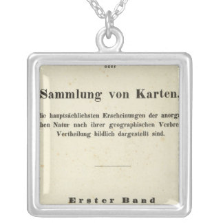 Title Page Dr Heinrich Berghaus Silver Plated Necklace
