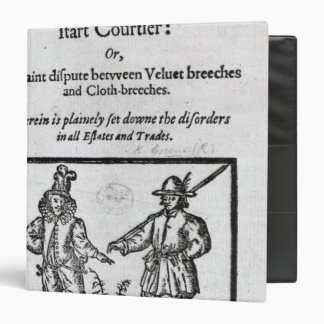 Title page for 'A Quip for an Upstart Courtier' Binder