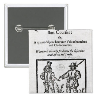 Title page for 'A Quip for an Upstart Courtier' 2 Inch Square Button
