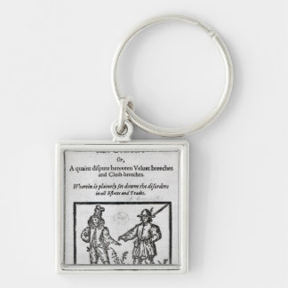 Title page for 'A Quip for an Upstart Courtier' Silver-Colored Square Keychain