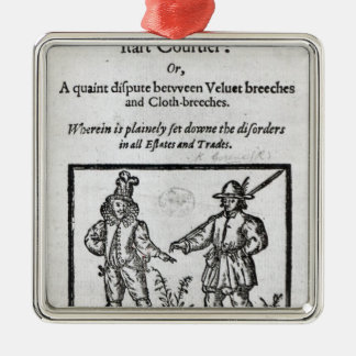 Title page for 'A Quip for an Upstart Courtier' Metal Ornament