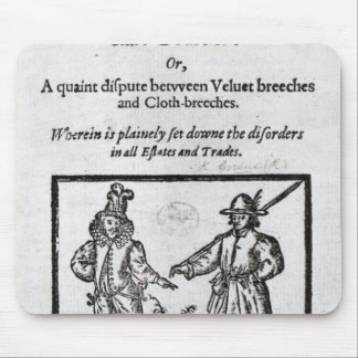Title page for 'A Quip for an Upstart Courtier' Mouse Pad