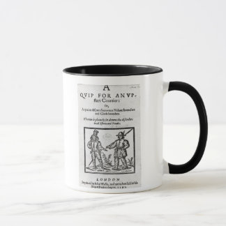 Title page for 'A Quip for an Upstart Courtier' Mug