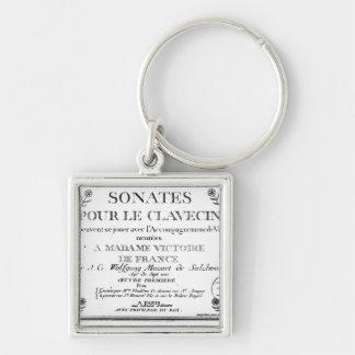 Title Page for 'Sonates pour le clavecin' Keychain