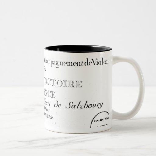 Title Page for 'Sonates pour le clavecin' Coffee Mug