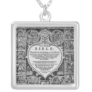 Title page for the English translation Square Pendant Necklace
