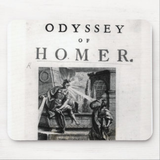 Title page for 'The Odyssey' by Homer Mouse Pad