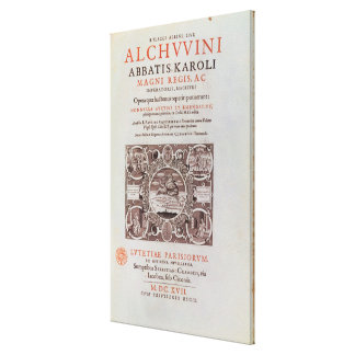 Title Page from 'Abbatis Karoli Magni Regis' Canvas Print