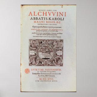 Title Page from 'Abbatis Karoli Magni Regis' Poster