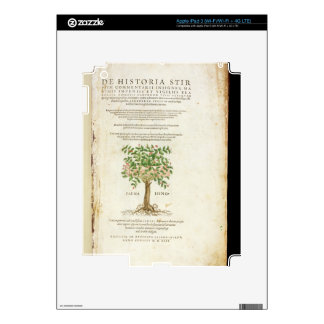 Title page from 'De Historia Stirpium Commentarii iPad 3 Skins
