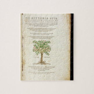 Title page from 'De Historia Stirpium Commentarii Jigsaw Puzzle