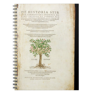 Title page from 'De Historia Stirpium Commentarii Notebook