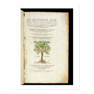 Title page from 'De Historia Stirpium Commentarii Postcard