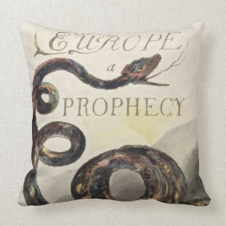 Title Page from 'Europe. A Prophecy', 1794 (relief Throw Pillow