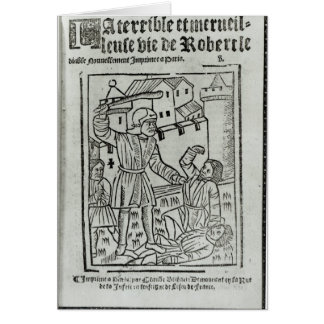 Title page from 'La Terrible et Merveille�' Card