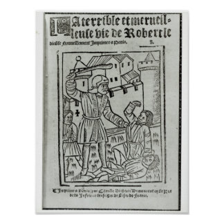 Title page from 'La Terrible et Merveille�' Poster
